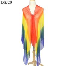Fashion color chiffon material elegant plain crinkle scarves