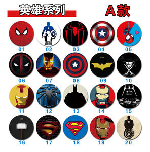Cartoon Heros Character Star Crack Pattern Grip up Socket For Cell Phone