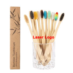 Travel Hotel Use Ultra Soft Bristles ECO Friendly Organic Bamboo Tooth Brush