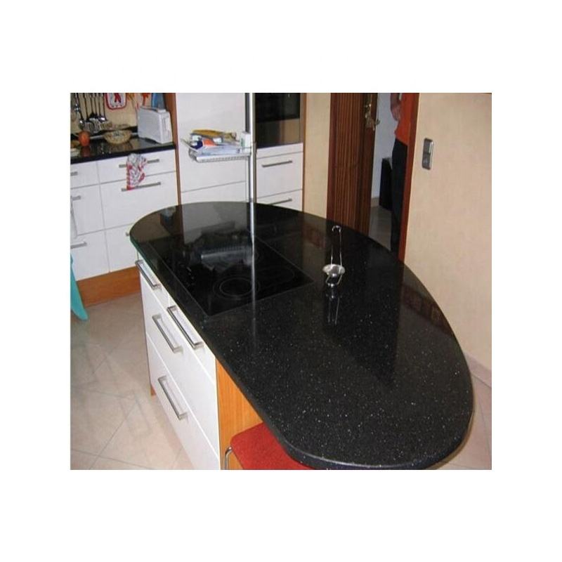 Black star galaxy pre cut granite countertops black galaxy kitchen island top