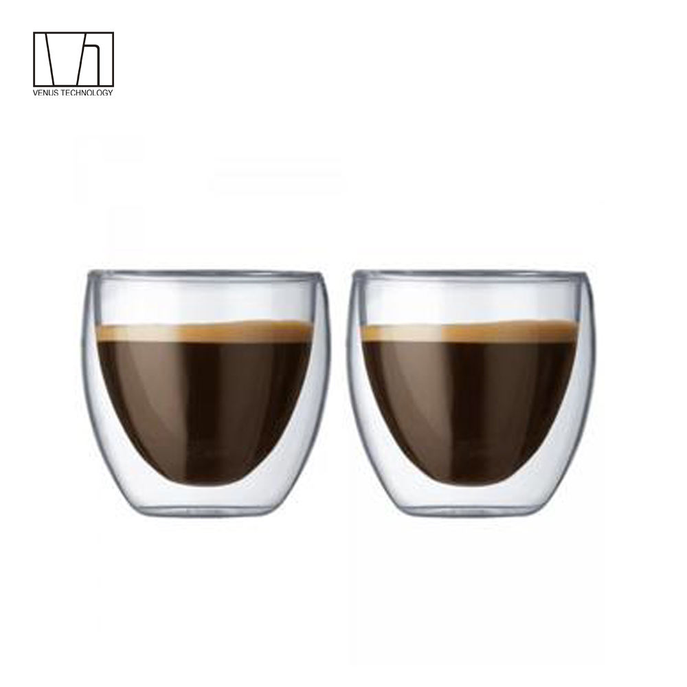 80ml double wall high borosilicate glass expresso cup