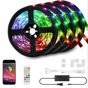 66ft/20M tira de LED Kit de luces LED tiras de cinta RGB LED tiras de luz sincronizar música Smart App tira de luz controlador Bluetooth