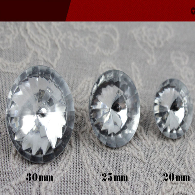 Fashionable Furniture Sofa Fabric Cover Diamante Clear Glass Crystal Sewing Upholstery Button