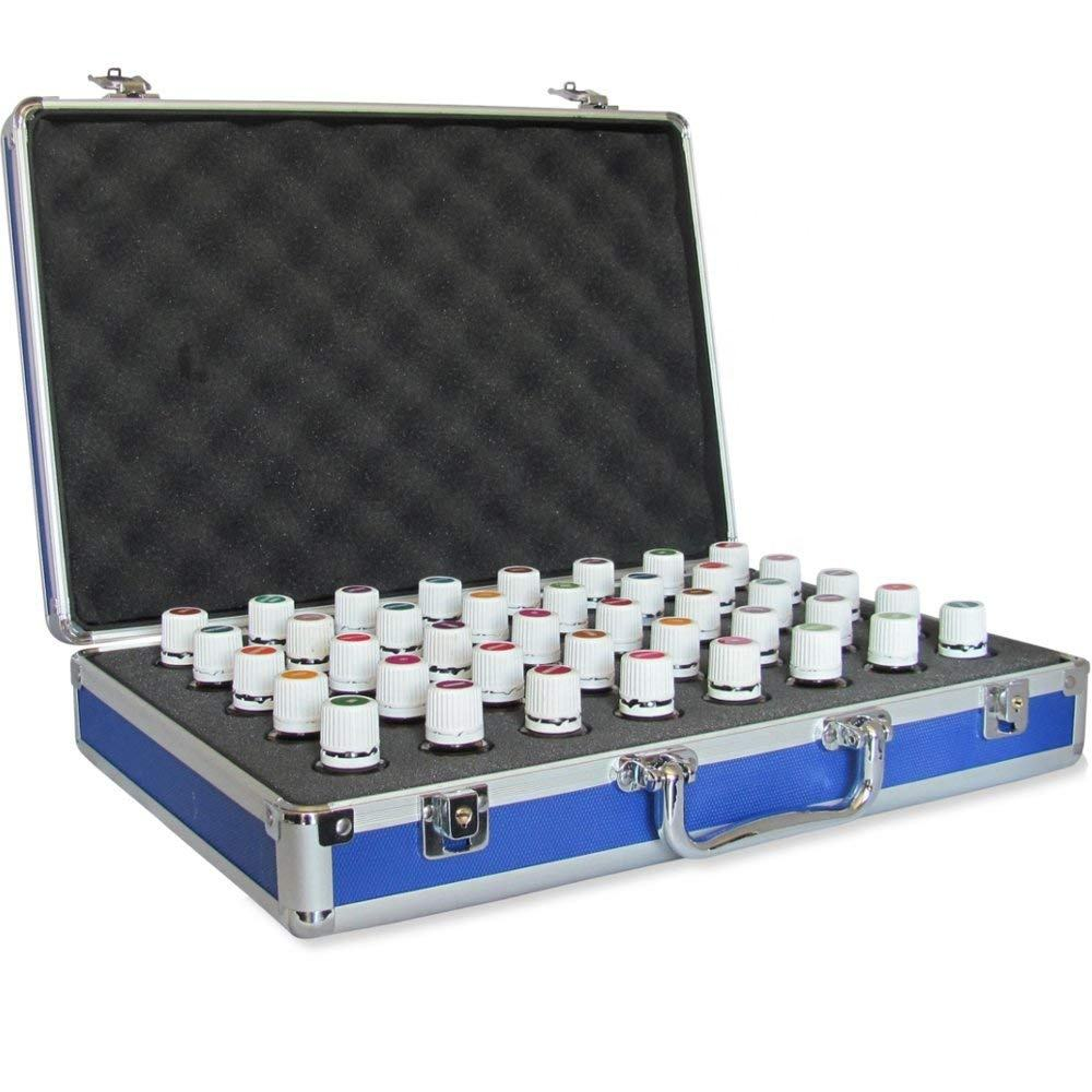 40 Bottle Essential Oil Carrying Case Perfect for Travel Display Empty Hard Aluminum Storage Case