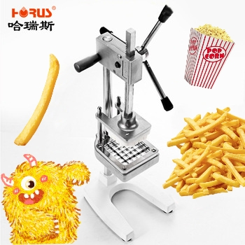 Vertical Manual Potato Cutting Fries Machine 3 Knives Strip Cutter Commercial