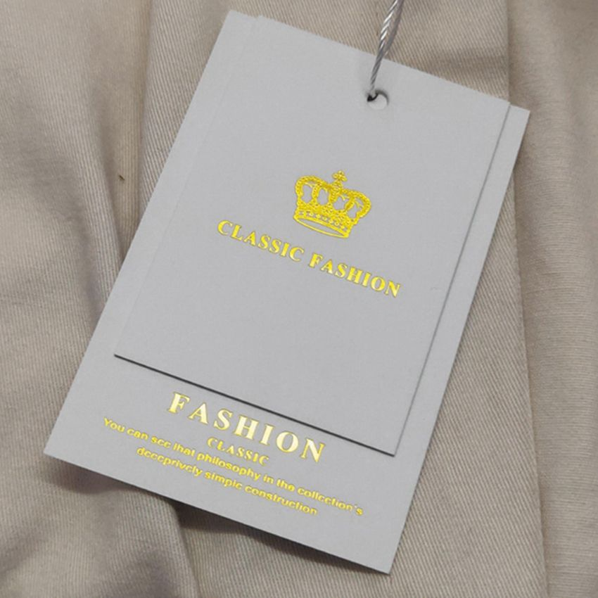 Label Hang Tags Custom Swing Hang Tags New China Label Designs Clothing Garment Pant Logo Tag