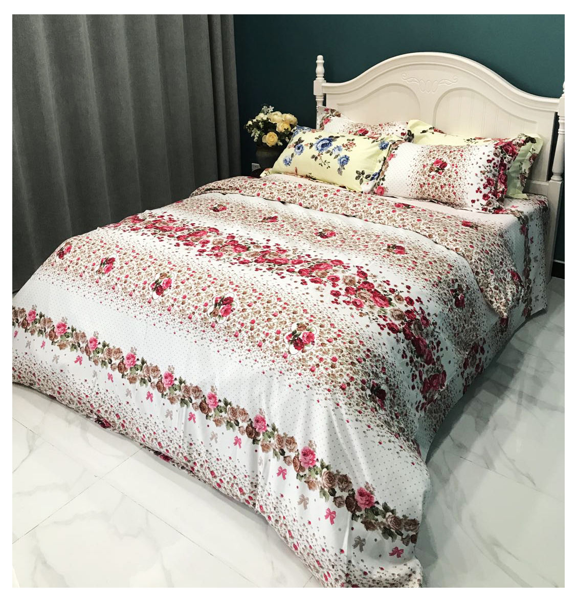 factory sell cheap 100%Polyester Bedding Set cushion disperse printing Wholesale 4PCS 6PCScomforter bed cover pillow case