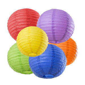 Wholesale Assorted Colors Weddings /Parties /Events Decorations Global Shape Chinese Round Paper Lanterns