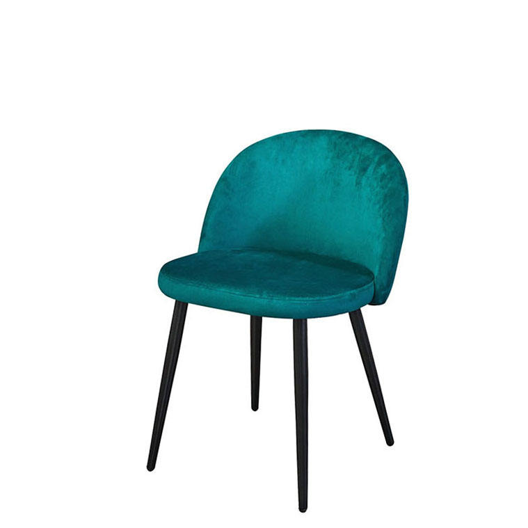 Fabric Velvet Dining Room Chair Furnitures Chairs Gray Luxury Coffee Shop Nordic Blue Design Home Office Living Upholstered