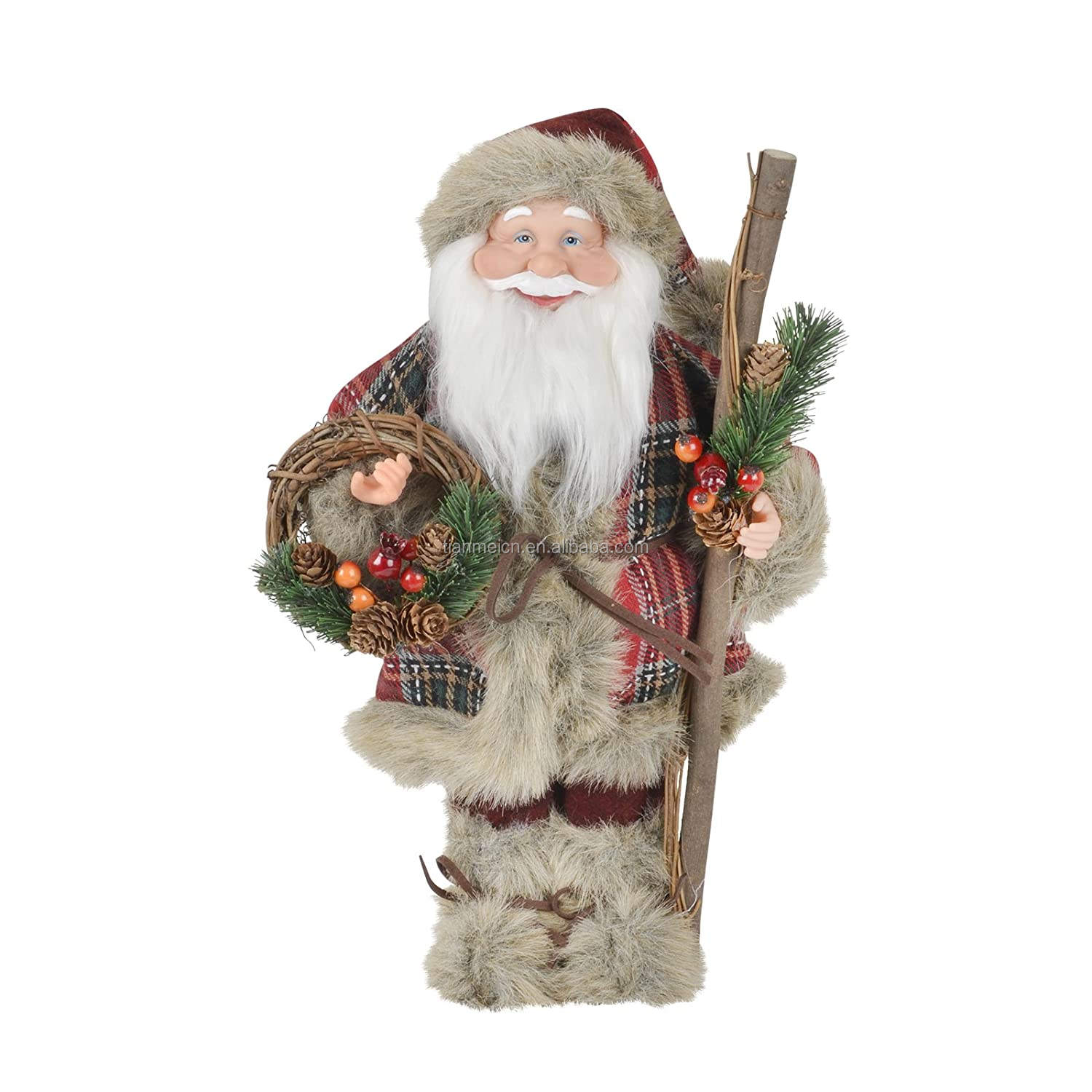 80Cm Permanent Kerstman Rotan Hoepel Decor Vakantie Kerst Decoratie Set Figurie Collection Christmas Craft Supplies