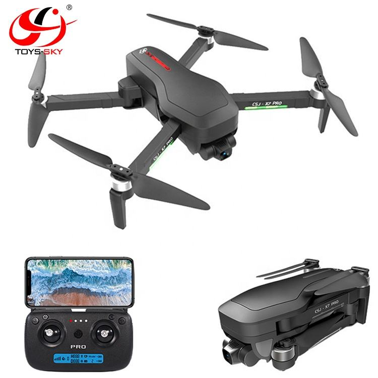 2020 Newest CSJ-X7 Pro2 3 axis Gimbal Drone 4k GPS with Camera Brushless Professional 800M Wifi 26Mins Quadrocopter hot selling