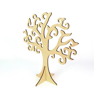 New items laser cut wood easter tree for bunny
