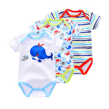 Summer Season 100% Cotton Bodysuits Cartoon Baby Clothes Newborn