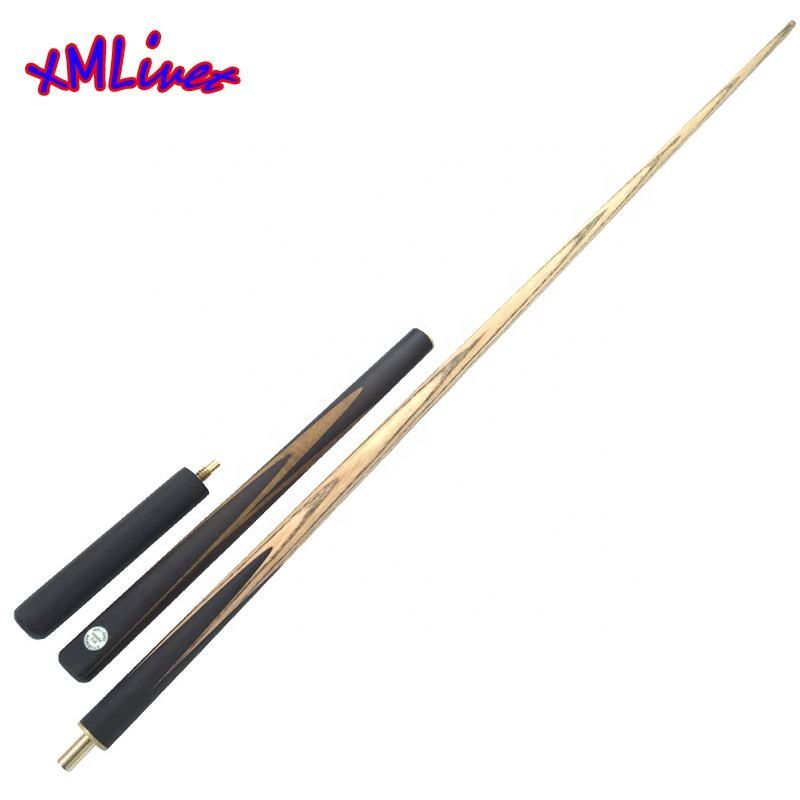 xmlivet Handmade Ebony 3/4 Jointed Snooker Cues Sticks with 9.5mm Tips Inlay for four sides Tacos De Snooker China