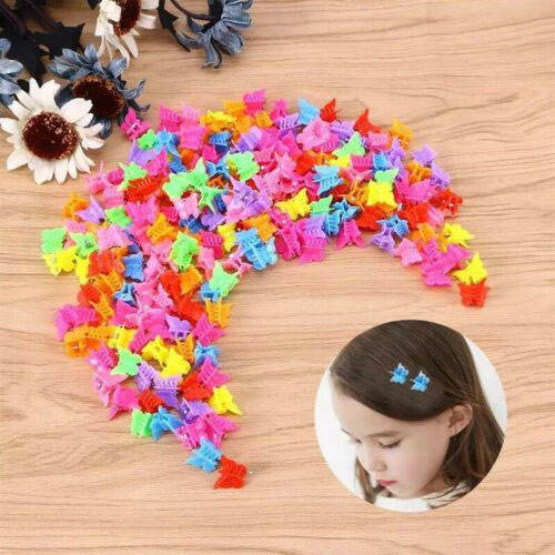 Butterfly hair clip Pack of 20/50/100 Mini hair butterfly plastic color children love cartoon small claw clip accessories