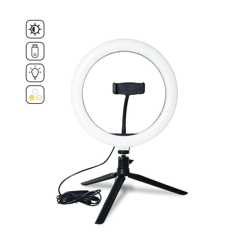 "10"" desk ring light with tripod stand for makeup desk led ring light professional ring light studio"
