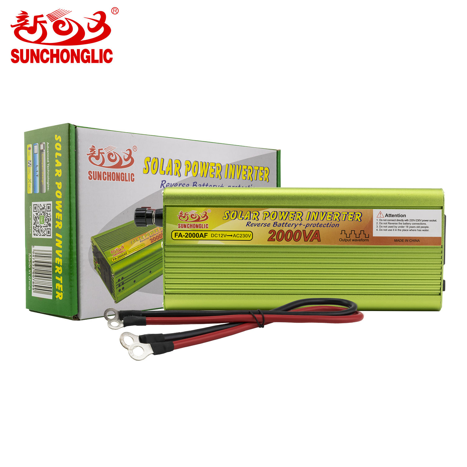 Sunchonglic 2kw 12 volt dc 220 volt ac 2000 watt 12V 220V off grid 2000VA 2000W Inverter Power Inverter