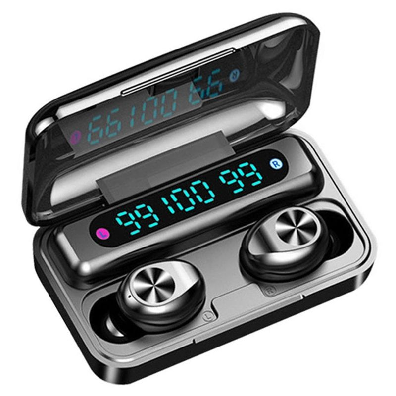 2000mAh Touch Control 3 LED LCD Digital Display F9-10 9D Stereo Wireless headphone Waterproof 5.0 Tws Earbuds Headset
