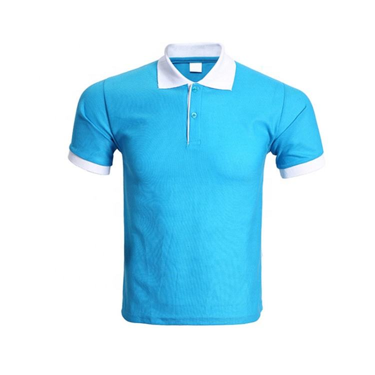 Customize sporty uniform blue polo t shirt for man