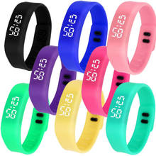 Wholesales cheap new design fashion silicone band led up watch factory directly price