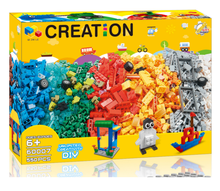 550pcs Creative Educational Construction DIY Bulk Building Blocks LE  blocks