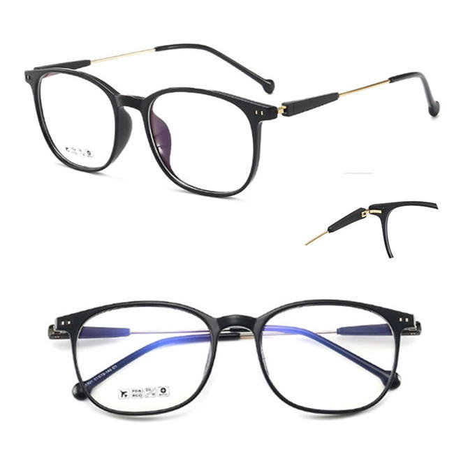 In Stock Fashion Black Frame Thin Temple Tr90 Eyeglasses Frames Custom New Optical Glasses Model