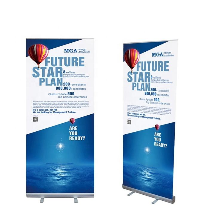 Hot sale roll up banner aluminum single side 80x200 display roll up stand roll up banner display