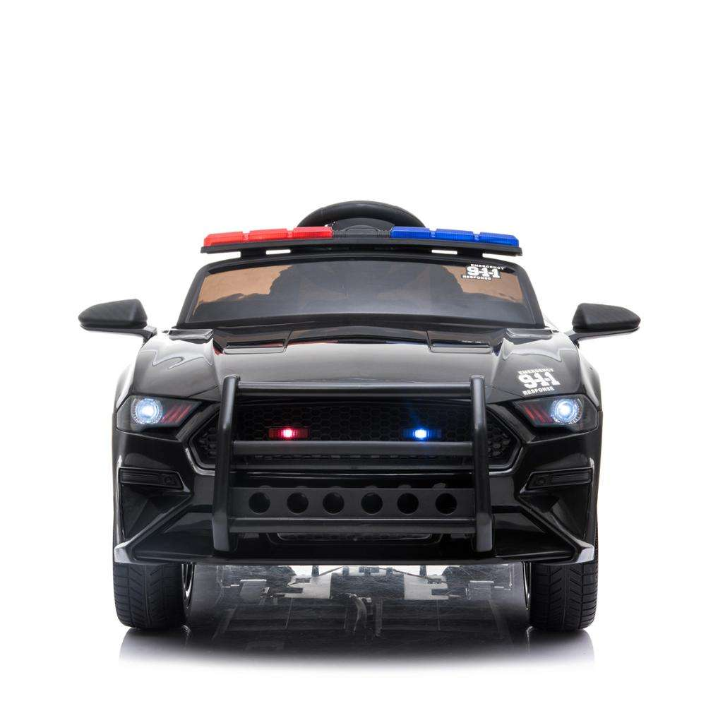 2019 New Kids Electric Ride On Police Car Four Wheel Children Electric Car Remote Control With One Seat