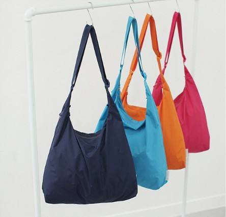 Daily Use Beach Waterproof Belongings Storage Large Eco Nylon Tote Bags, Reusable Foldable Grocery Shopping Bag