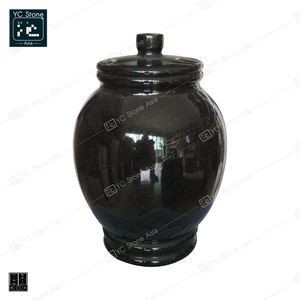 Quality Cheap Marble Stone Urn Funeral Storage Bottle Shape Granite Stone Urn