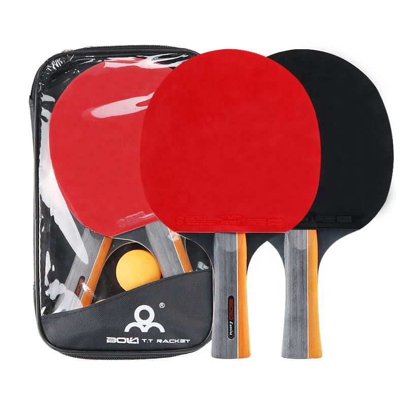 Tennis Table Racket New Design Table Tennis Racket For Sale Ping Pong Bat Set With 3 Balls