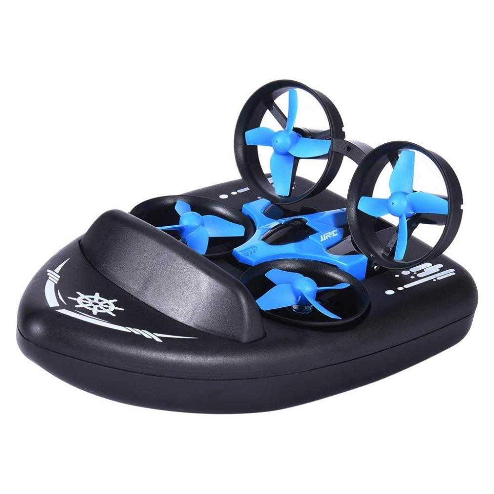 3 In 1 Terzetto Boat Vehicle Flying FPV Racing Drone 4CH 6-Axis Headless Mode RC Drone 2.4G JJRC H36 H36F Mini Drone