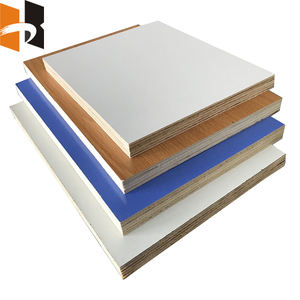 Cheap 16mm White Melamine Paper Coating Faced Laminated Plywood Board
