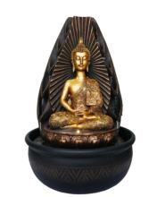 Fantasy Gifts Buddha Greeting and Teaching LED Lighted Tabletop Fountain