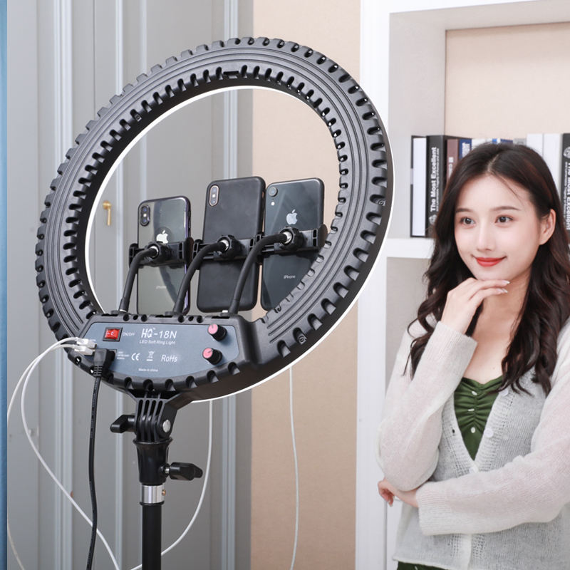 Hot Deal Led Ring Light Ring Led Light 2 USB Port 18 Inch LED Ring Light With 2.1m Tripod Stand 55W Live Stream