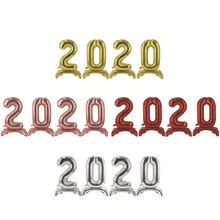 32 Inch 2020 Lampstand Foil Number Balloons for 2020 New Year Eve Festival Party Supplies Graduation Decorations