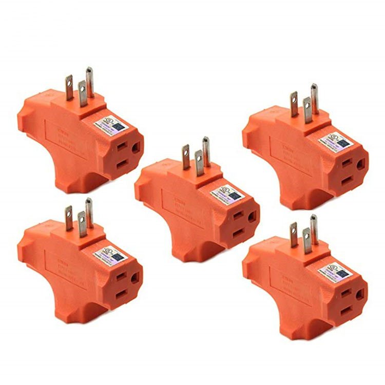 3 Way Outlet T-Shapedอะแดปเตอร์Outlet Outlet GroundedผนังHeavy Duty