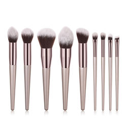 High quality custom color low moq brush applicator cosmetic packaging cosmetic beauty brush set