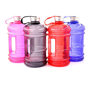 2.2L plastic drinking personalized pet gym water bottle eco friendly with custom logo