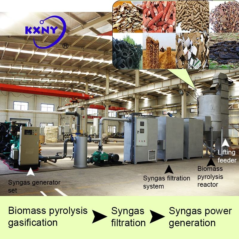 Factory direct selling 400KW biomass generator,Rubber combustion gasification power generation set
