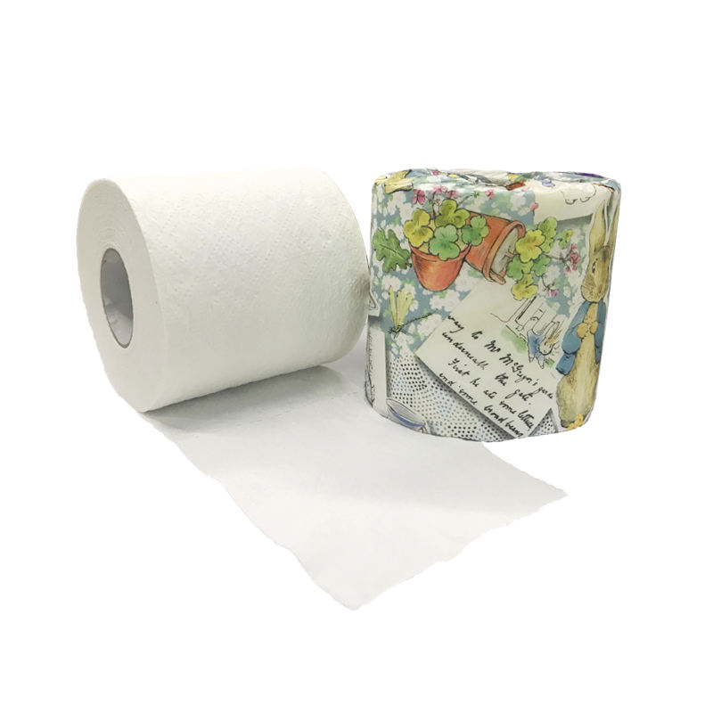 Roll Toilet Paper 3 Ply Bamboo Fiber Paper Ecofriendly Toilet Tissue