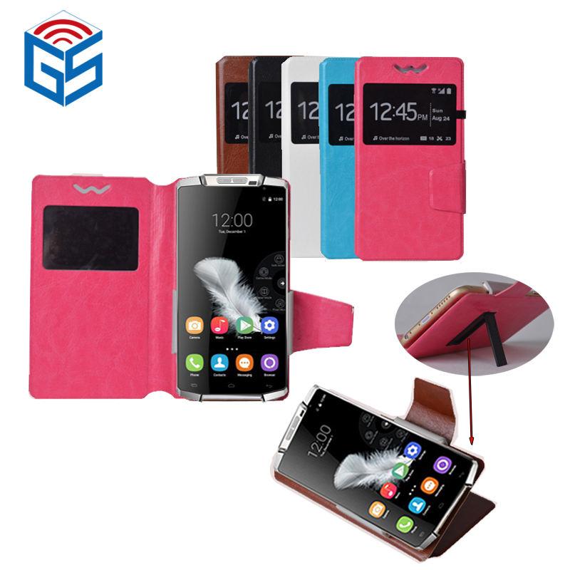 Fenster Ansicht Rutsche Universal Größe 3D PU Leder Flip Smartphone Fall Für BQ Für Nokia 105