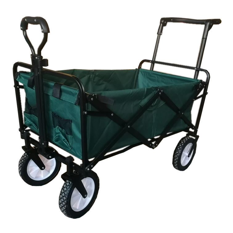 Multifunction foldable outdoor portable folding four wheels camping cart wagon