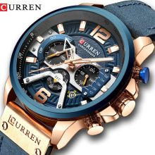 CURREN 8329  Casual Sport Watches for Men Blue Luxury Military Leather Wrist Watch Man Clock Fashion Chronograph Wristwatch