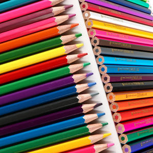 Adult Professional Bulk Natural Wooden Multi Colored Pencils For Children