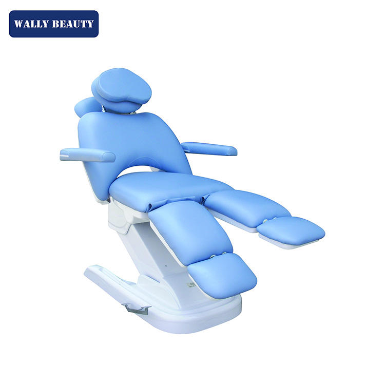 5 motors super soft special design blue facial bed for sale electric massage tattoo beauty spa eyelash WALLY BEAUTY WL-F887