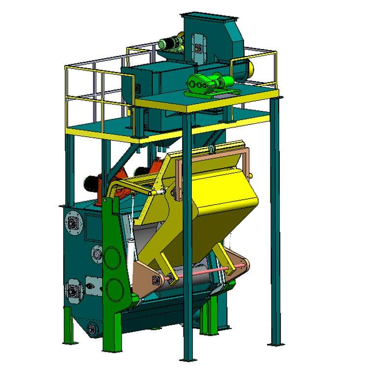 Tumble Shot Blasting Machine WIth Auto Feeding and Unloading Device Tumblast Shot Blasting Machine