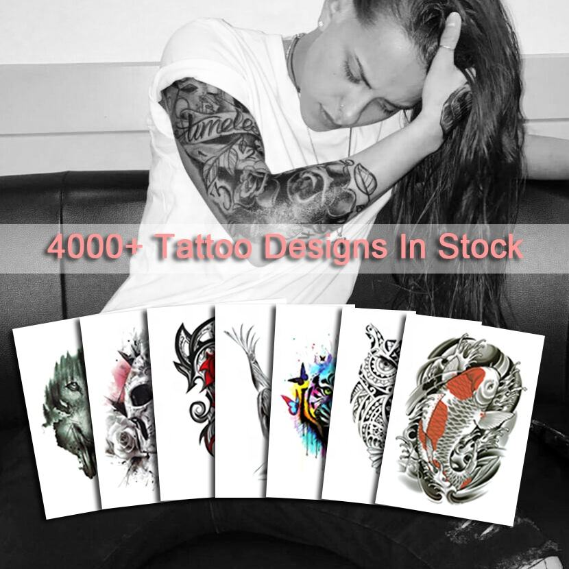2020 NEW Waterproof Stock Tribal Designs Tatoo Stickers Half Arm Tattoo Temporary
