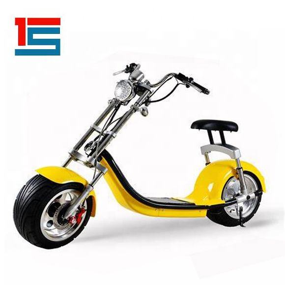 Di Colore Giallo brillante 2000W 60V Citycoco Fat Tire Scooter Elettrici per Adulti