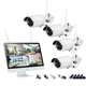 All in One Easy to use 4 Channels housing using 1080P CCTV camera wireless cameras system kit with 15.6inch Monitor